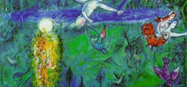 Marc Chagall, Adam and Eve Expelled from Paradise