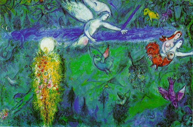 Adam and Eve Expelled from Paradise, by Marc Chagall