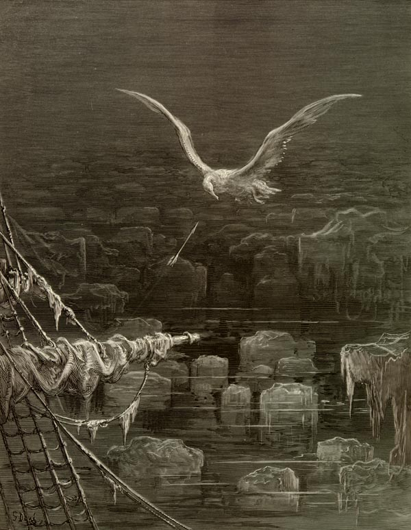 The Albatross in The Rime of the Ancient Mariner, by Gustave Dore
