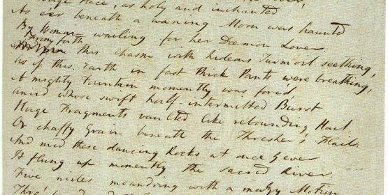 Samuel Taylor Coleridge's Handwritten Manuscript of Kubla Khan