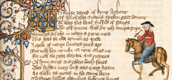 The Wife of Bath in an Illuminated Manuscript