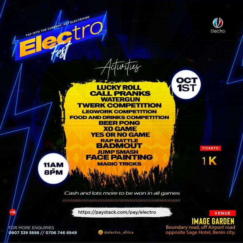 Events: Electro Fest Happening On October 1st- All You Need To Know [See Details