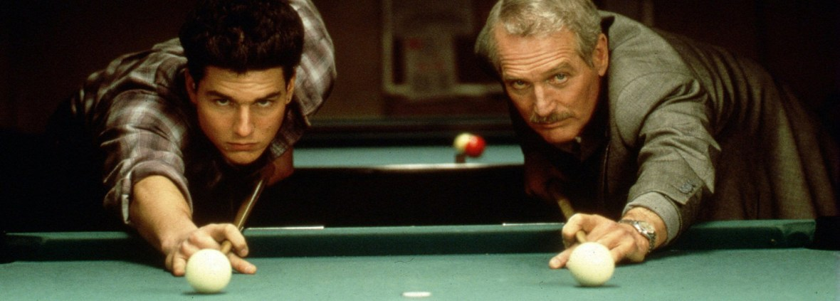 "Paul Newman, right, and Tom Cruise, in a scene from the 1986 film ""The Color of Money,"" for which Newman won an Oscar for best actor."