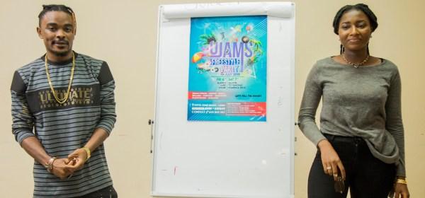 Blaise B and Ewube at UJAMS BLOGGERS HANGOUT