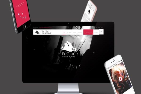 Diseño página web para el Griu Artesa de Lleida. Disseny pàgina web per al Griu Artesa de Lleida
