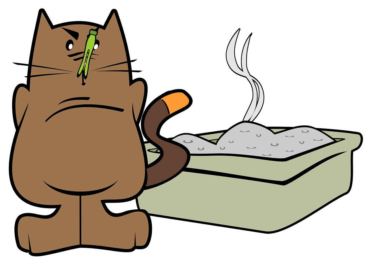 cat litter tray cartoon Critter Caretakers Pet Services The Dangers of Low Quality Cat Litter