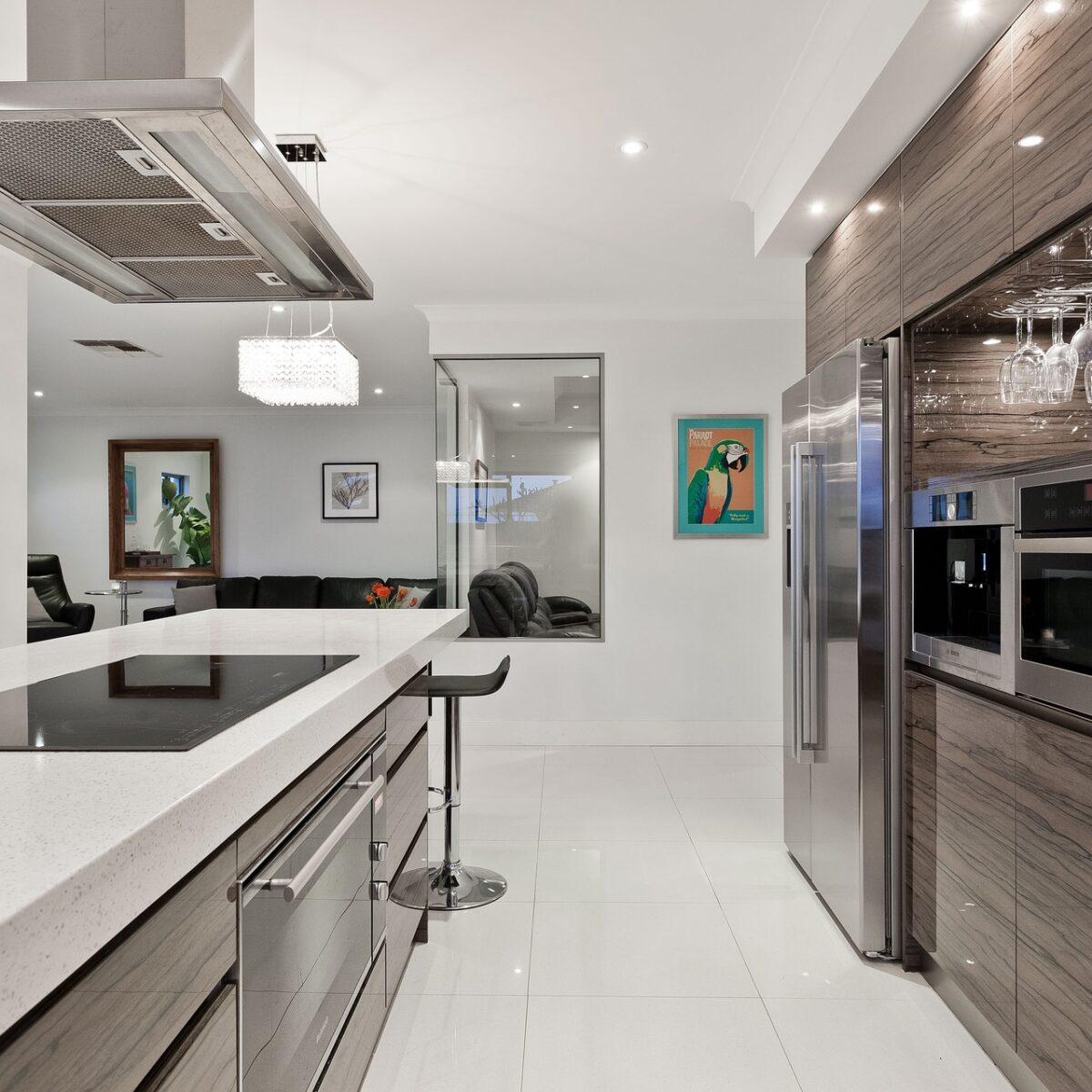 house cleaning white kitchen