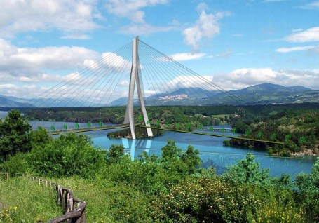 Lago Pertusillo - vista con ponte