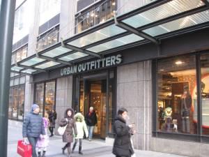 Urban Outfitters, loja na 5a avenida, Nova York, loja nova em Nova York