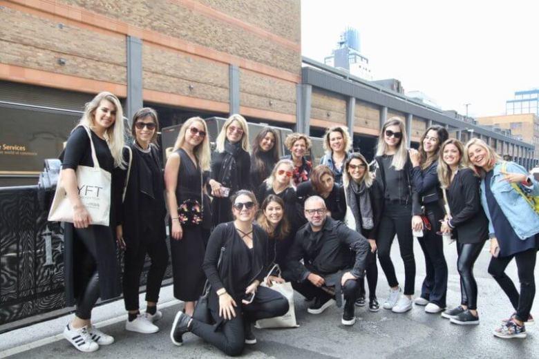 NY Fashion Tour - Curso de Moda em Nova York - backstage de desfile - NYFW - semana de moda em Nova York - Crivorot & Scigliano - tour de moda em Nova York