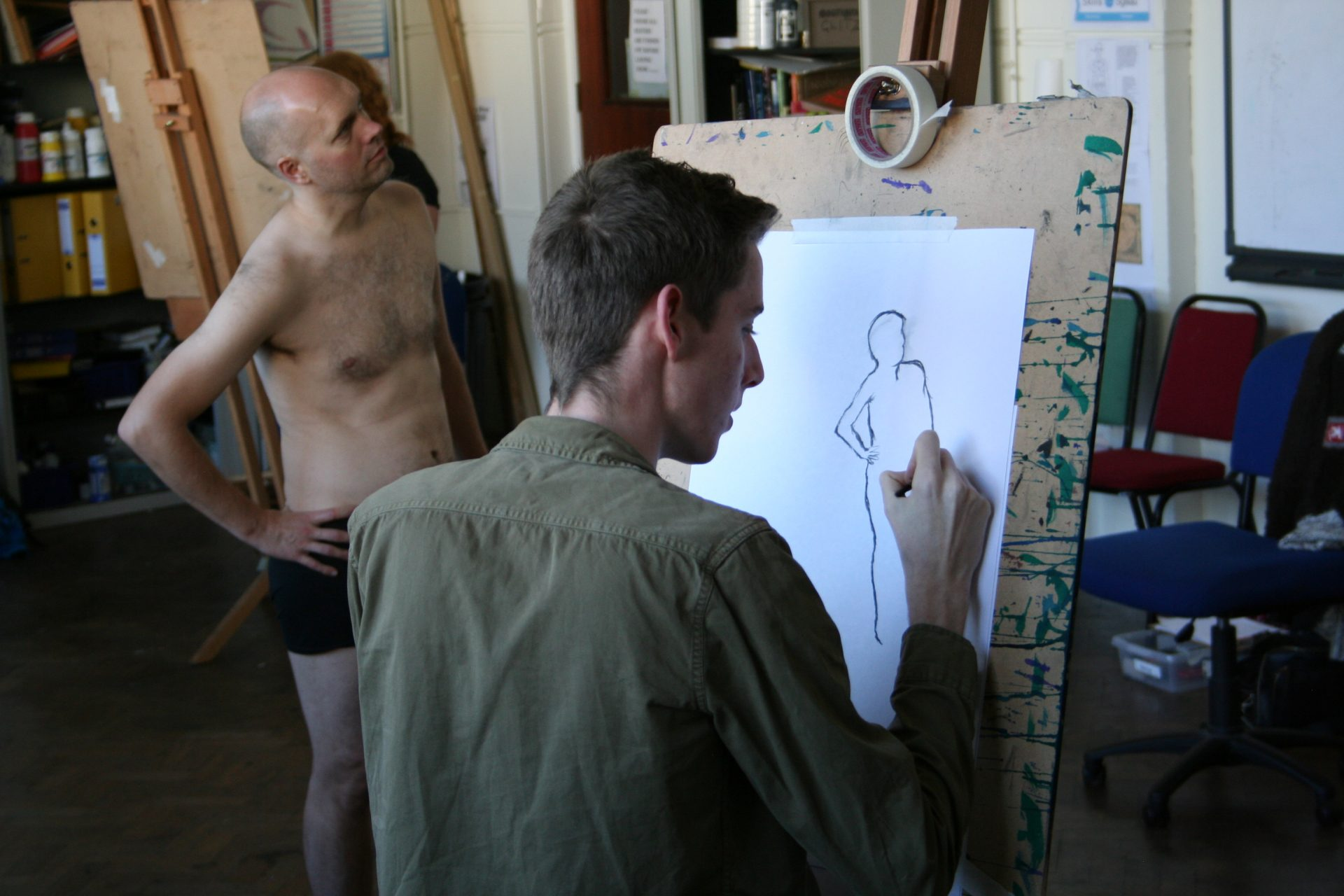 Life drawing masterclass with Mary Passmore