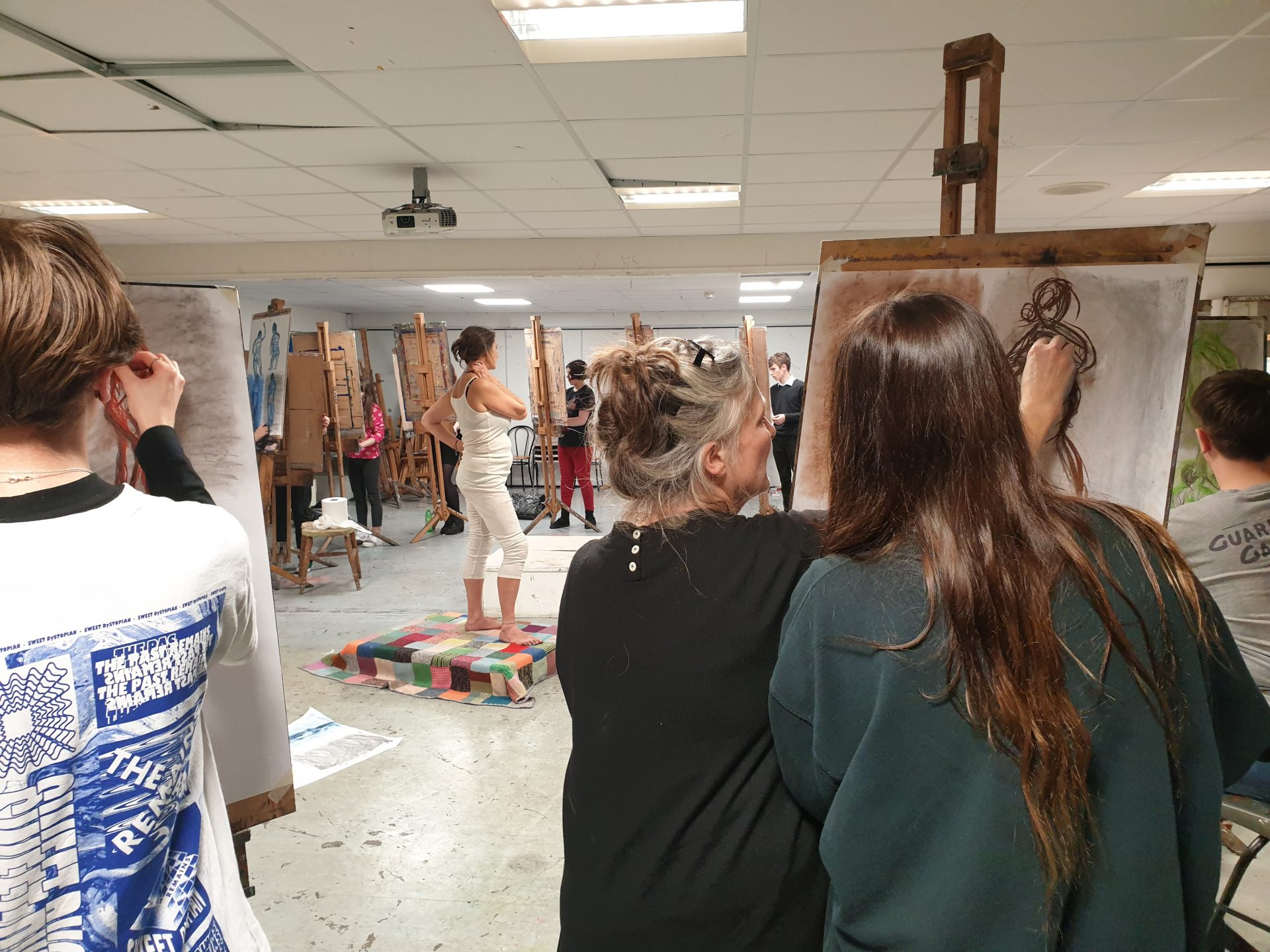 Lifedrawing masterclass at Coleg Sir Gar