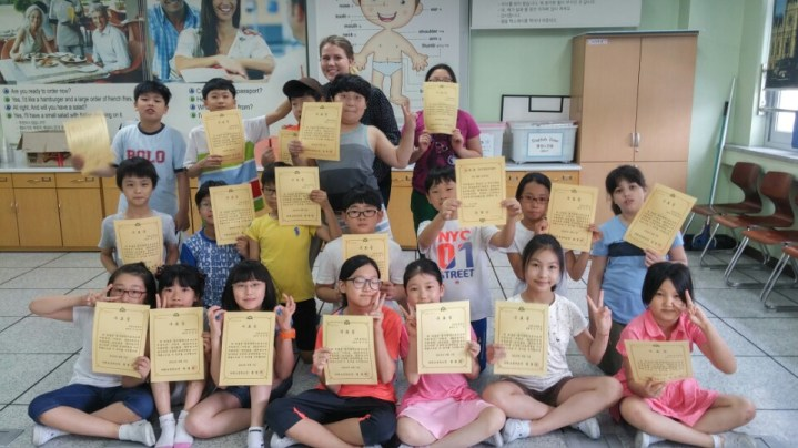 Certificates on the last day of camp!