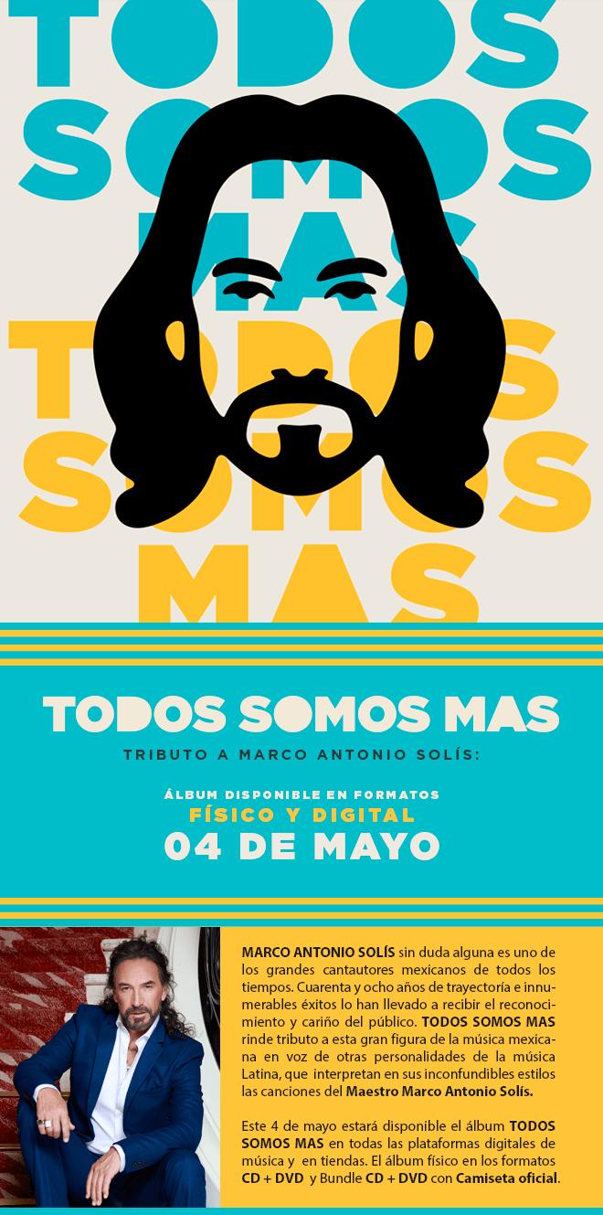 Ya está disponible el tributo a Marco Antonio Solís, \