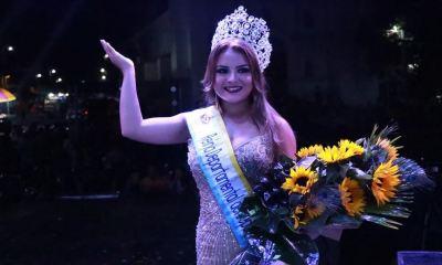 Gabriela Cancinos, representante de la ciudad de Mazatenango fue electa como Reina Departamental del Deporte. (Foto: Cristian Soto)