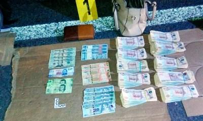 La pareja fue detenida con Q100 mil en efectivo en jurisdicción de Colomba, Quetzaltenango. (Foto: PNC)