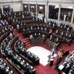 Los diputados juramentaron este jueves a los nuevos magistrados del Tribunal Supremo Electoral. (Foto: Congreso de la República)