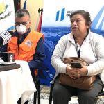 Lisbeth Cajas, director del área de salud de Alta Verapaz, brindó la actualización de los datos de COVID-19 en el departamento. (Foto: Eduardo Sam)