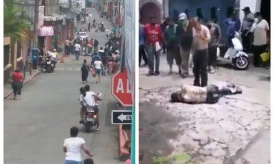 Un albañil quedó herido luego de una caída por recibir una descarga eléctrica en Suchitepéquez. (Foto: Cristian Soto)