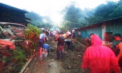 Las fuerte lluvia provocó derrumbes y daños en viviendas, lo que dejó un saldo de varios heridos y evacuados. (Foto: CONRED)