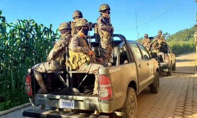 Distintas brigadas del Ejército de Guatemala patrullan los municipios donde fue decretado el estado de sitio por el presidente. (Foto: Ejército de Guatemala)