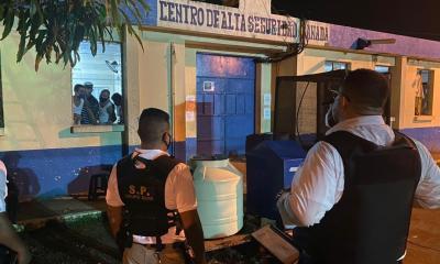 Los reos del Barrio 18 liberaron a los guardias que mantenían como rehenes durante la madrugada de este martes. (Foto: Cortesía)