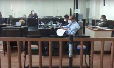La audiencia donde se solicitaría medida sustitutiva contra los implicados en el caso Lanquín, no pudo llevarse a cabo ayer martes. (Foto: Captura de video Canal Antigua)