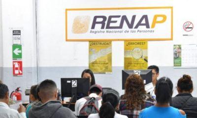 Las oficinas del RENAP a nivel nacional permanecerán cerradas este martes por el asueto del 15 de septiembre, por el día de la independencia. (Foto: AGN)
