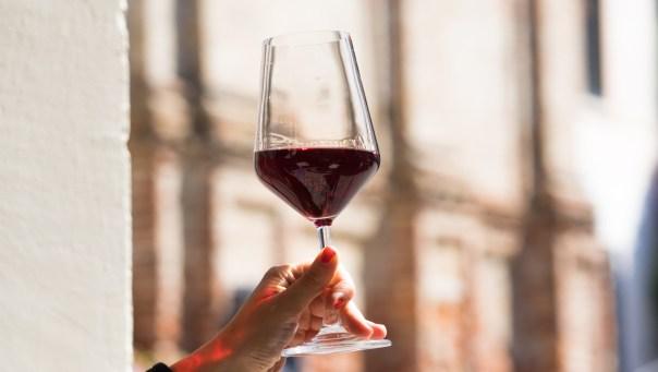 A glass of fine wine