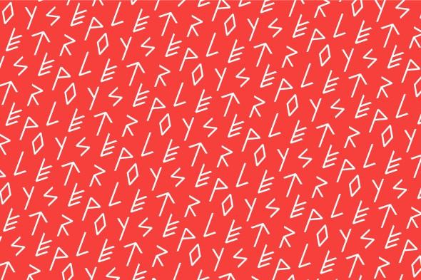 Tipografía experimental - Polyester por Sandra Almeida