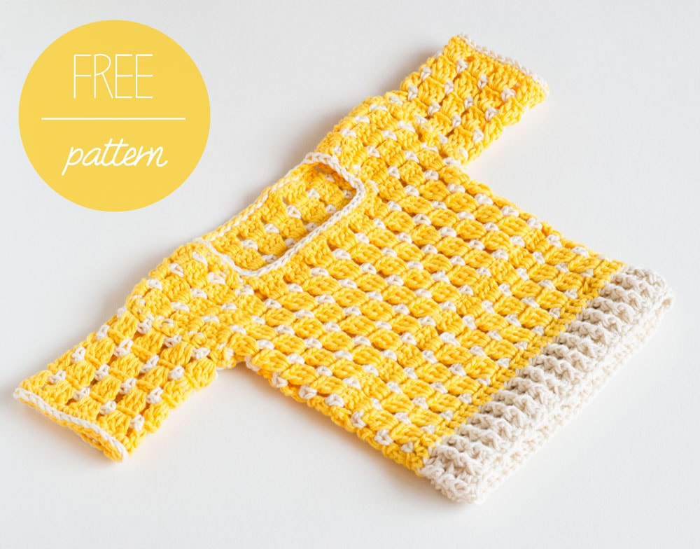 Free crochet Baby Sweater by Croby Patterns