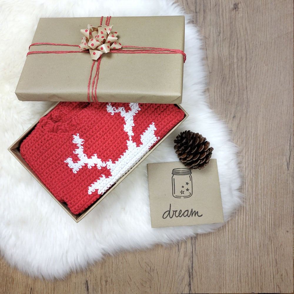 Reindeer Baby Sweater by Croby Patterns