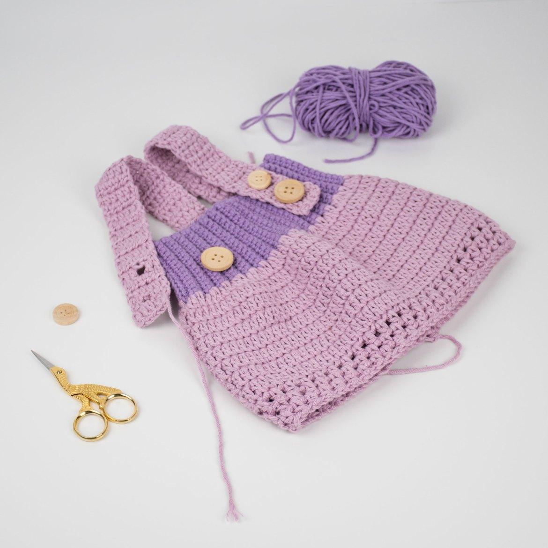 Crochet Dress Litte Princess by Croby Patterns