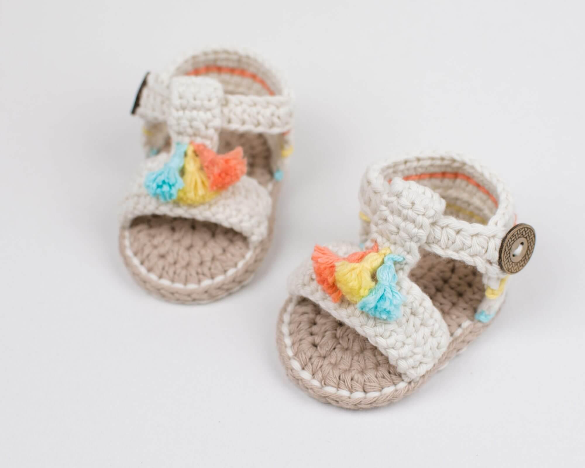 Boho Baby Crochet Sandals - Free