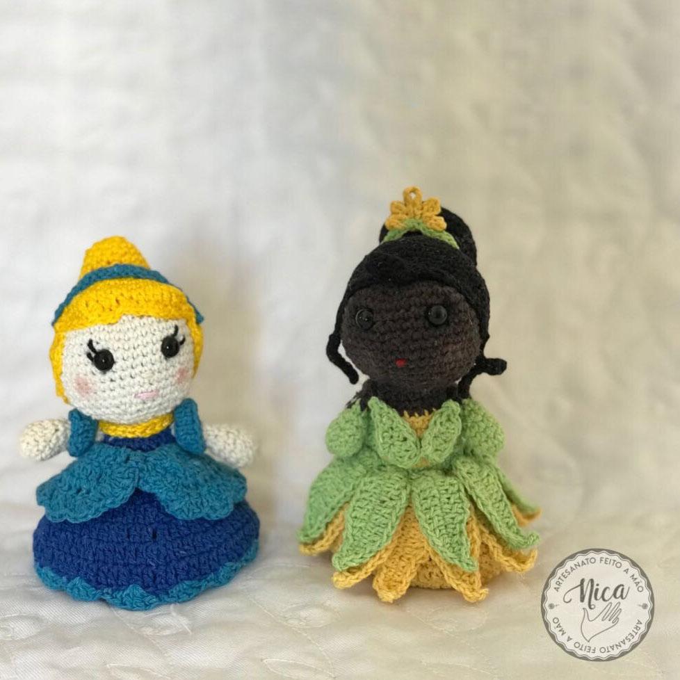 Cinderela e Tiana by Sonia Fernandes