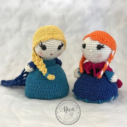 Elsa e Anna por Sonia Fernandes