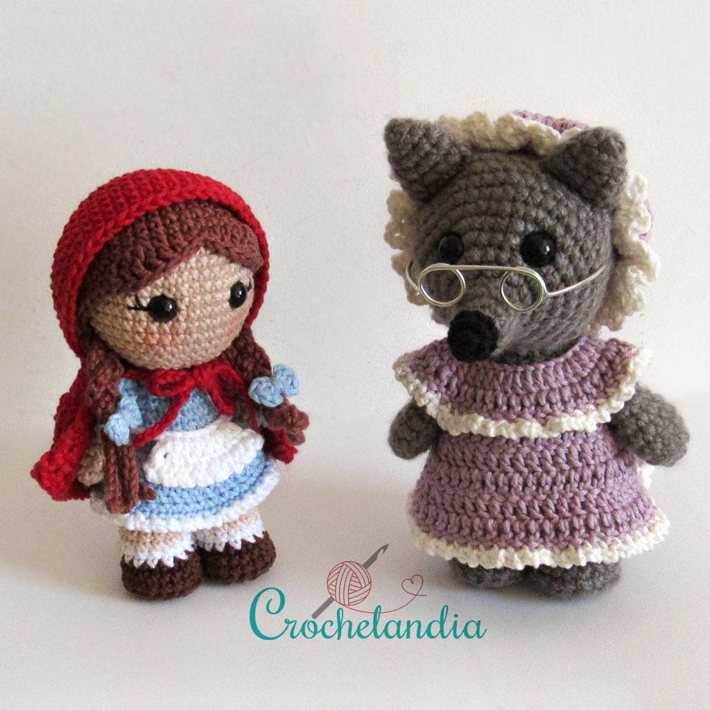 Free Crochet Pattern by Crochelandia: Big Bad Wolf Amigurumi Toy Art   1024x1024