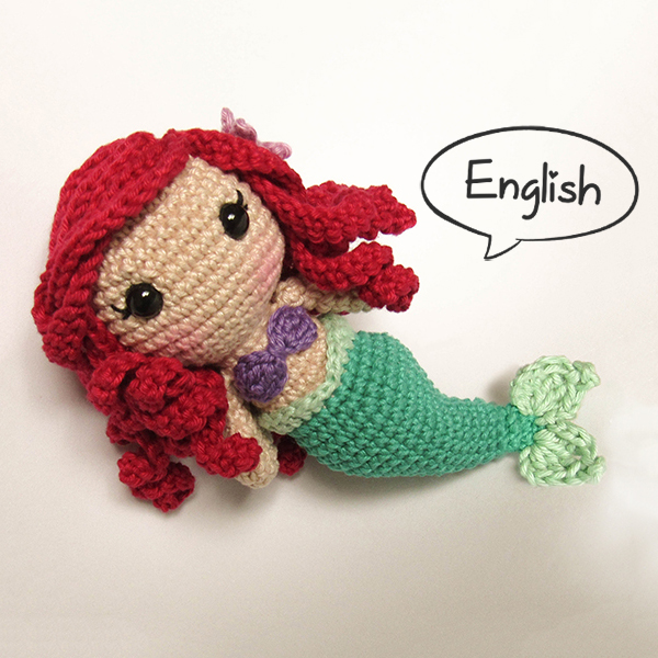 Toy art Ariel - by Crochelandia