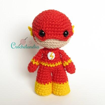 Toy art amigurumi The Flash