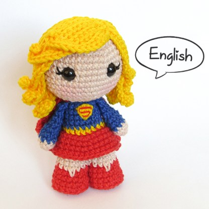 Toy Art Amigurumi Supergirl - crochet pattern by Crochelandia
