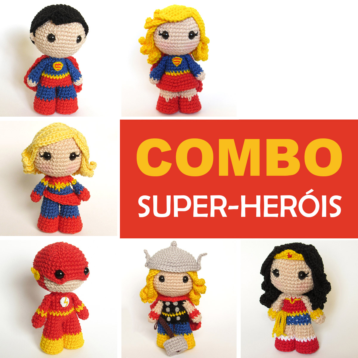 Super Herói Super Homem (superman) Em Crochê - Amigurumi - R$ 239 ... | 1200x1200
