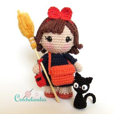 Toy Art Amigurumi Kiki & Jiji - by Crochelandia