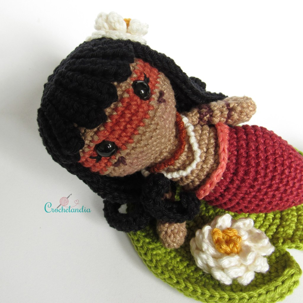 Amigurumi Iara, a sereia brasileira