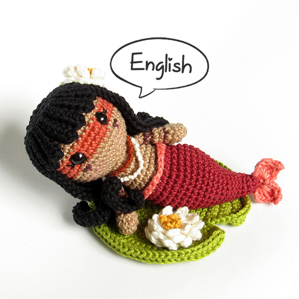 Amigurumi Iara, the brazilian mermaid - by Crochelandia
