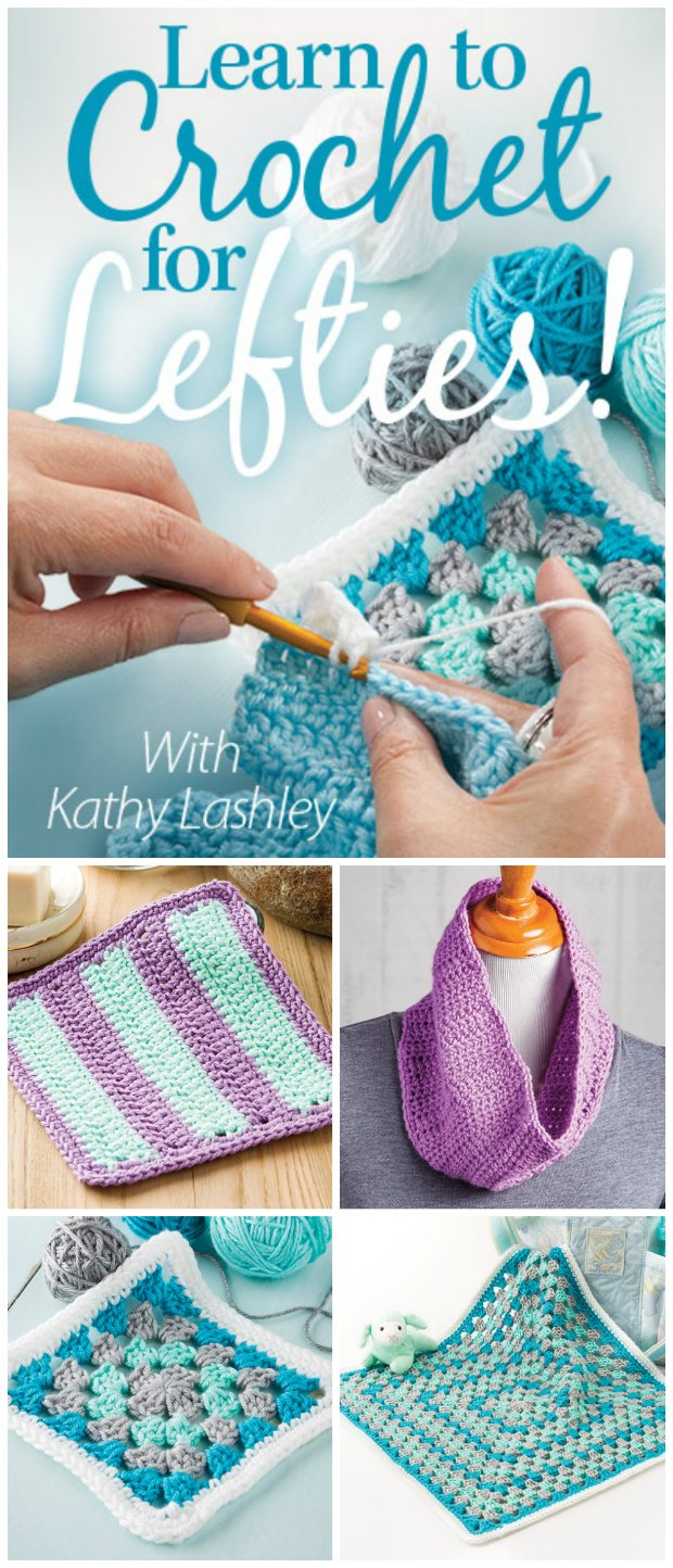 After struggling to learn to crochet from a right-handed person, I took this video class and suddenly everything became easy, natural and fun! If you are left-handed and want to learn to crochet properly - take this video class!