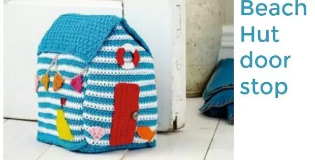 crochet doorstop beach hut