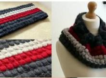 Bubble Wrap Pattern Crochet Cowl