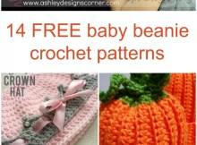 14 baby beanie hat crochet patterns