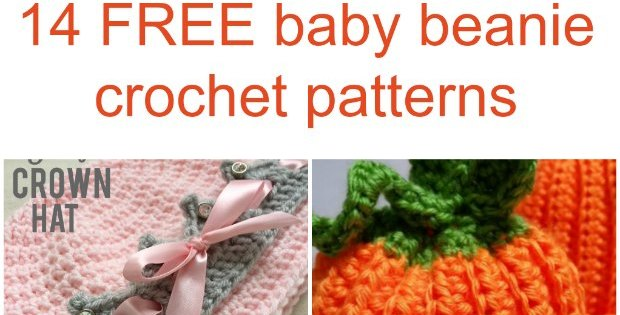 14 baby beanie hat crochet patterns