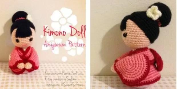 crochet kimono doll amigurumi